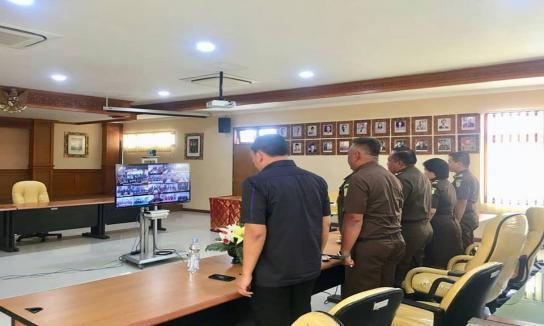 Vidio Conference Bimbingan Teknis Sistem Pengendalian Intern Pemerintah (SPIP) Kejaksaan RI Tahun 2019