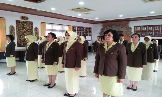 Pelantikan Ketua IAD Kejari Denpasar Oleh Ibu Ketua IAD Wilayah Kejati Bali