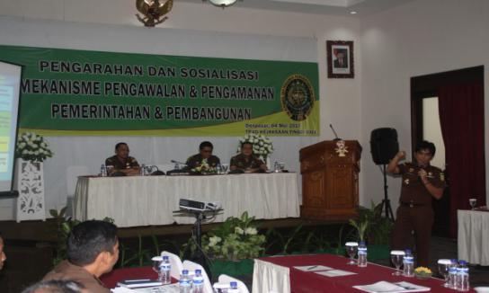 Pengarahan dan Sosialisasi TP4D Kejati Bali DI INNA Bali Hotel