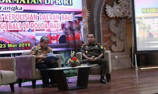 Sosialisasi Kode Etik dan Tata Beracara MKD DPR RI di Kepolisian Daerah Bali