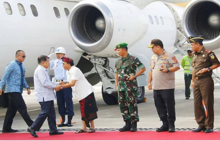 Kedatangan Bapak Wakil Presiden di Bali.