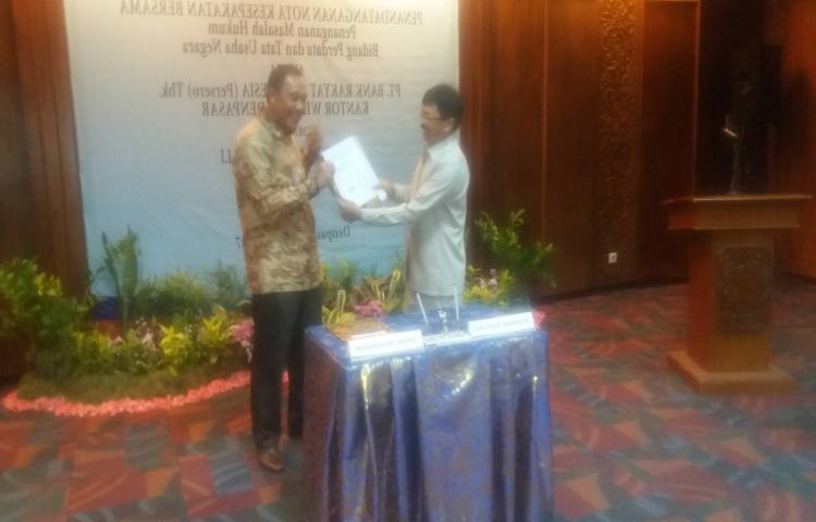 Kegiatan Penandatanganan MOU Bidang Perdata dan TUN antara  Kejaksaan Tinggi Bali Dengan PT. Bank Rakyat Indonesia (Persero) Tbk.