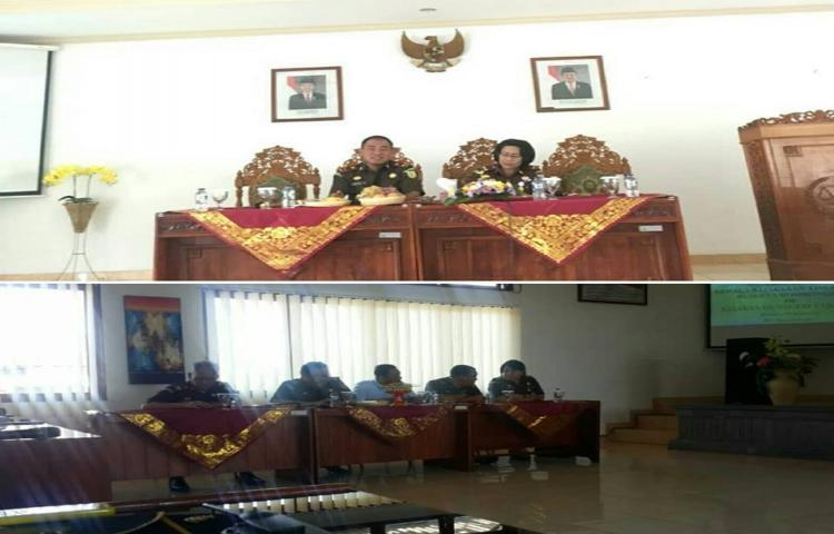 Kunjungan Kerja Kepala Kejaksaan Tinggi Bali di Kejari Tabanan
