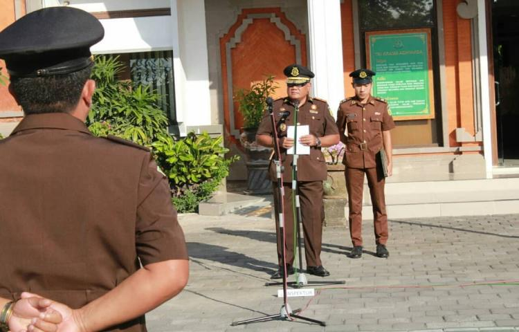 Upacara Peringatan Hari Kebangkitan Nasional yang ke-111 Tahun 2019 di Kejati Bali