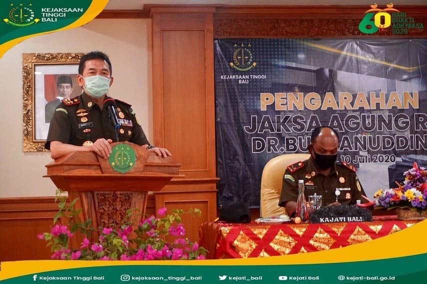 Arahan Jaksa Agung RI pada kegiatan Kunjungan Kerja di Kejaksaan Tinggi Bali