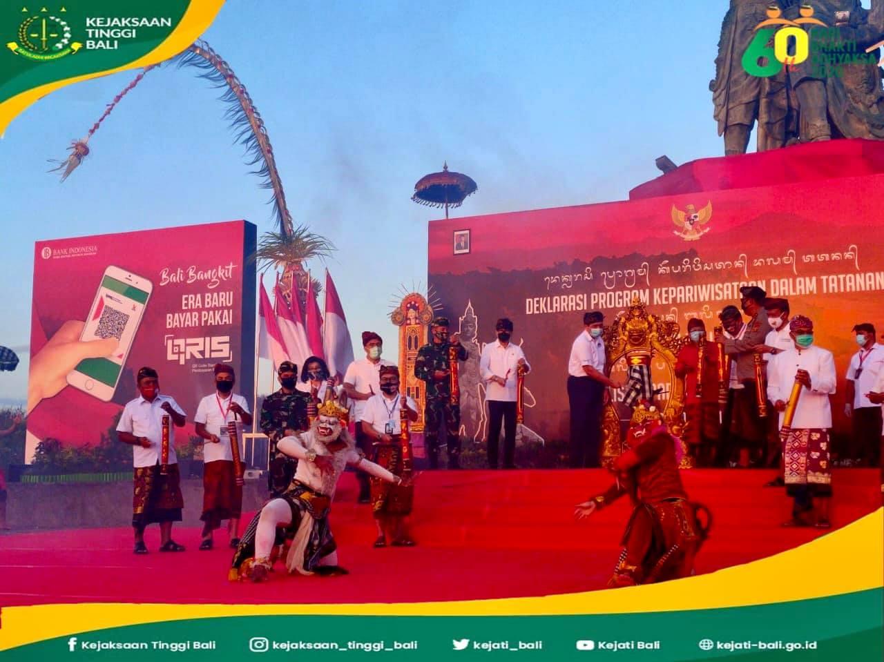Kepala Kejaksaan Tinggi Bali Erbagtyo Rohan, S.H., M.H. menghadiri kegiatan deklarasi Program Kepariwisataan dalam Tatanan Kehidupan Bali Era Baru, Digitalisasi Pariwisata Berbasis QRIS