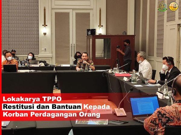Plt. Kepala Kejaksaan Tinggi Bali, Hutama Wisnu, SH., MH menghadiri kegiatan Lokakarya Tindak Pidana Perdagangan Orang tentang Restitusi dan Bantuan Kepada Korban