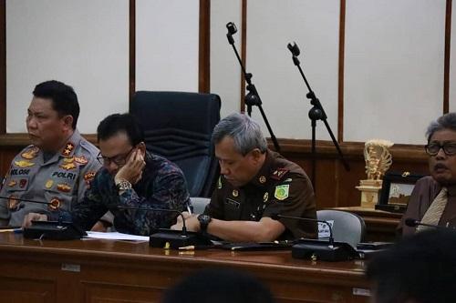 Rapat Koordinasi Ketua DPR RI dengan Gubernur Bali beserta Forkompimda Provinsi Bali dalam rangka persiapan Natal 2019 dan Tahun Baru 2020